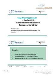 das Portal für Arzneimittelinformation des Bundes und der Länder