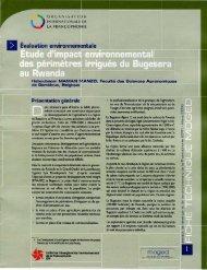 Etude d'impact environnemental des périmètres irrigués du ...