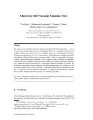 Clustering with Minimum Spanning Trees - School of Computer and ...