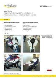Details und Bilder >> siehe PDF - alpha Racing