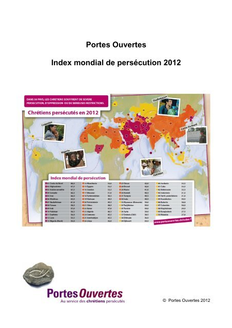 Index mondial de persécution - (C) 2012 Portes Ouvertes