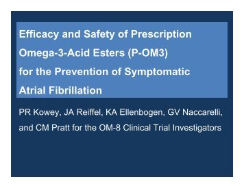 Efficacy and Safety of Prescription Omega-3-Acid - Clinical Trial ...