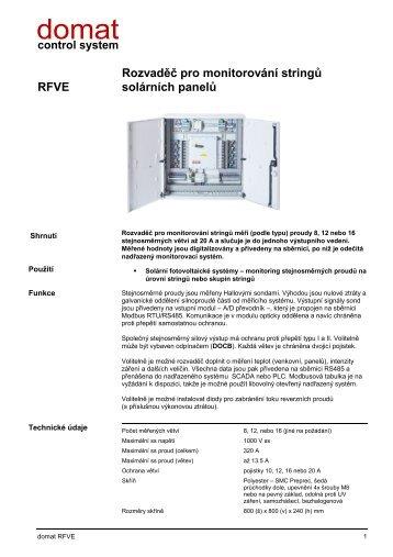 RFVE Rozvaděč pro monitorování stringů solárních panelů