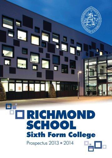 Sixth Form Prospectus 2013-2014 - Richmond School