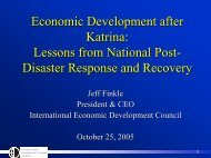 Lessons from National Post-Disaster Response and Recovery