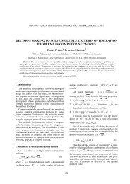 Decision Making to Solve Multiple Criteria Optimization Problems