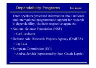 Dependability Programs