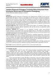 Analisis Kepuasan Pelanggan Terhadap Mutu Pelayanan ... - KMPK