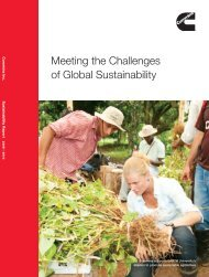 2010 Sustainability Report - Cummins