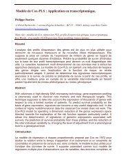 Modèle de Cox-PLS : Application en transcriptomique.