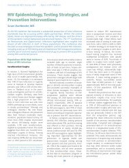 HIV Epidemiology, Testing Strategies, and Prevention Interventions