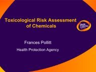 Toxicological risk assessment of chemicals