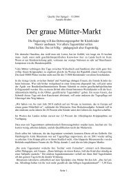 Der graue Mütter-Markt - Laufstall