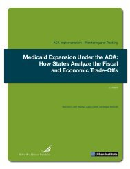 Medicaid Expansion Under the ACA: How States Analyze the Fiscal ...