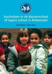Inschrijven in de kleuterschool of lagere school in Antwerpen