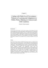 Coping with Multi-Level Governance: Patterns of Learning and ...