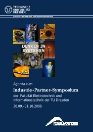 Industrie-Partner-Symposium - Fakultät Elektrotechnik und ...