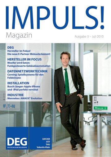 IMPULS! Ausgabe 3 - Juli 2010 - Deutsche Elektro Gruppe