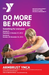 DO MORE BE MORE - Armbrust YMCA