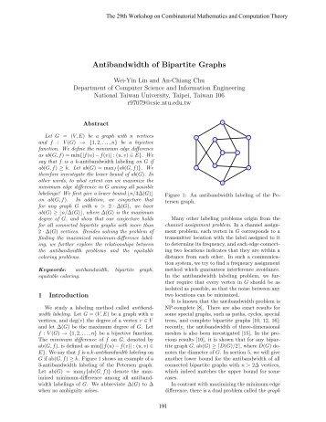 Antibandwidth of Bipartite Graphs