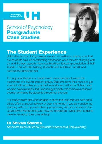 Postgraduate student views - University of Hertfordshire
