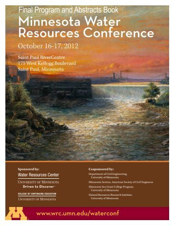 2012 Book of Abstracts (.pdf) - Water Resources Center - University ...