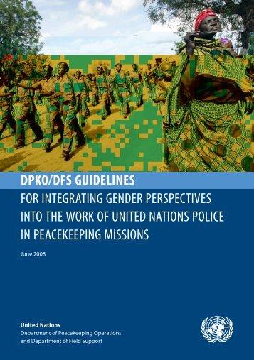 dpko/dfs guidelines for integrating gender perspectives into ... - Resdal