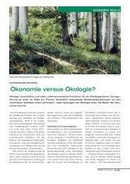 Ökonomie versus Ökologie? - Bafu - CH