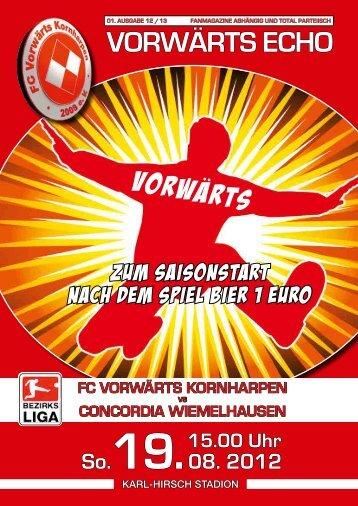 VorwArts Vorwärts echo - SV Vorwärts Kornharpen 1929 e.V.