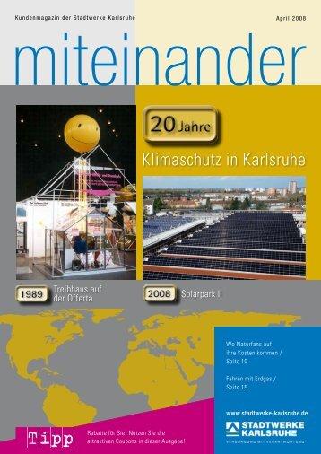 Klimaschutz in Karlsruhe - Stadtwerke Karlsruhe