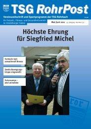 Mai/Juni 2011 - TSG Heidelberg-Rohrbach