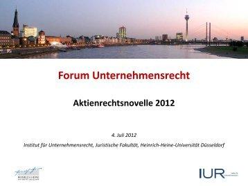 Forum Unternehmensrecht - Juristische Fakultät der Heinrich-Heine ...