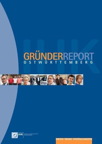 GRÜNDERREPORT - Ostwürttemberg in Zahlen