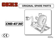 Coats CHD-4730 HD Tire Changer - NY Tech Supply