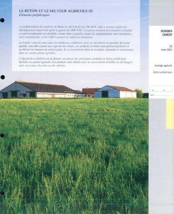 LE BéTON ET LE SECTEUR AGRICOLE - Febelcem