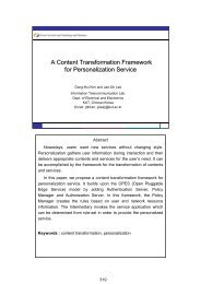 A Content Transformation Framework for Personalization ... - APNOMS