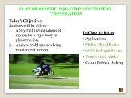 Planar Kinetic Equations of Motion & EM