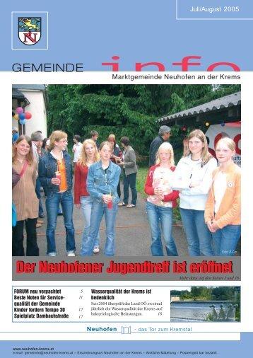 Gemeinde-info JULI/AUG 2005 (0 bytes) - Gemeinde Neuhofen