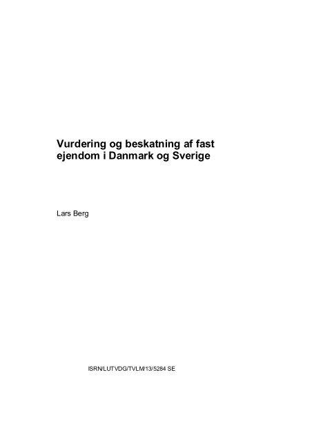 Denna sida kallas titelsida - Fastighetsvetenskap - Lunds Tekniska ...