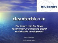 The Future Role for Clean Technology in Achieving Global ...