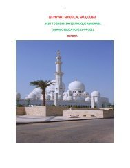 jss private school, al safa, dubai. visit to sheikh zayed mosque ...