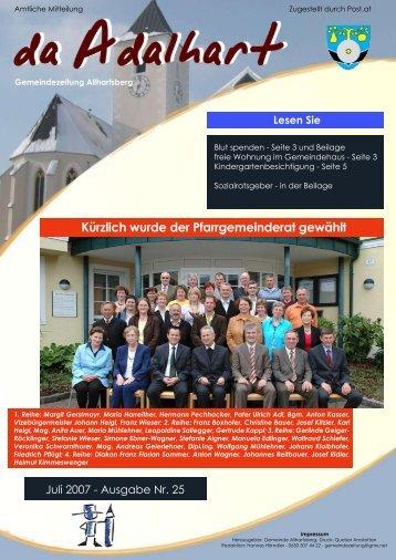 Kürzlich wurde der Pfarrgemeinderat gewählt - Marktgemeinde ...
