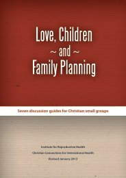 Love, Children Family Planning - Institute for Reproductive Health
