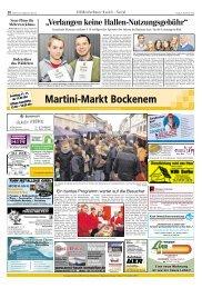 13.00 – 18.00 Uhr Martini-Markt Bockenem