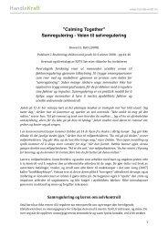 """Calming Together"""" Samregulering - Veien til ... - RVTS Sør"""