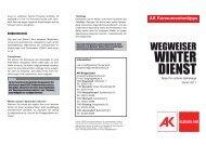 winterdienst - AK Burgenland - Arbeiterkammer