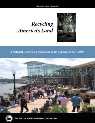 Recycling America's Land - U.S. Conference of Mayors