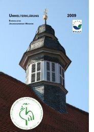 umwelterklärung 2009 - in der evangelischen Johannisgemeinde ...