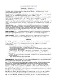 Procedimentos para Registro de Contratos de Alienação ... - Detran