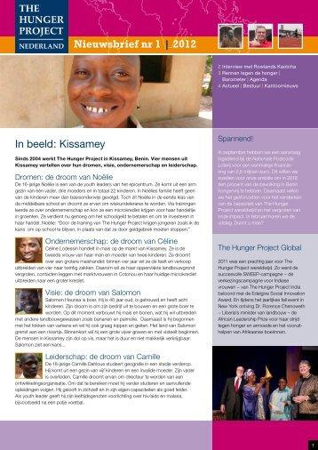 Nieuwsbrief 1 van 2012 - The Hunger Project
